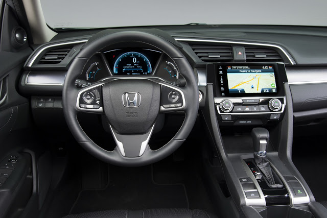 Interior do Honda Civic 2017